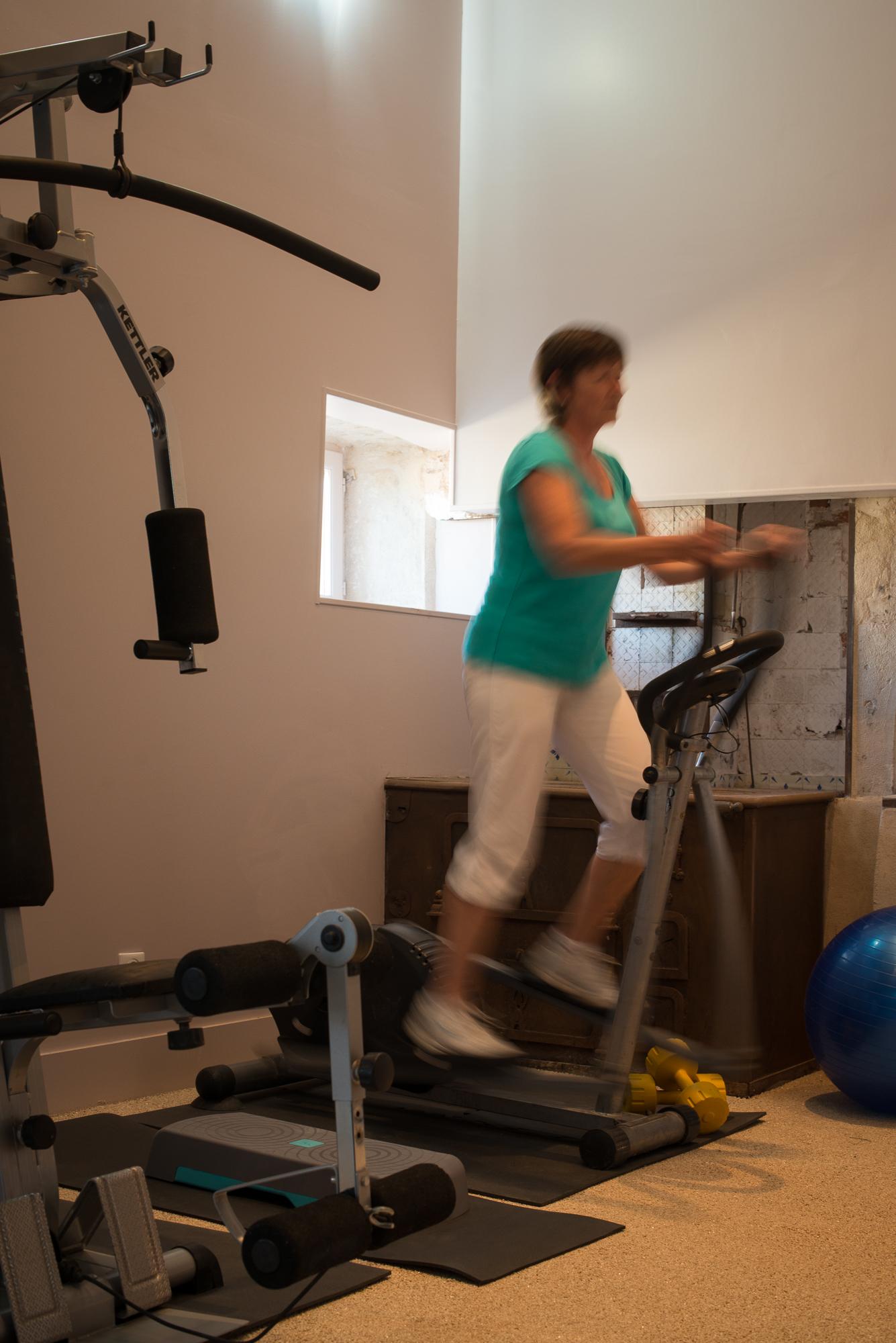 Salle de fitness dans le château - CHÂTEAU DE TAILLY©MICHEL JOLY