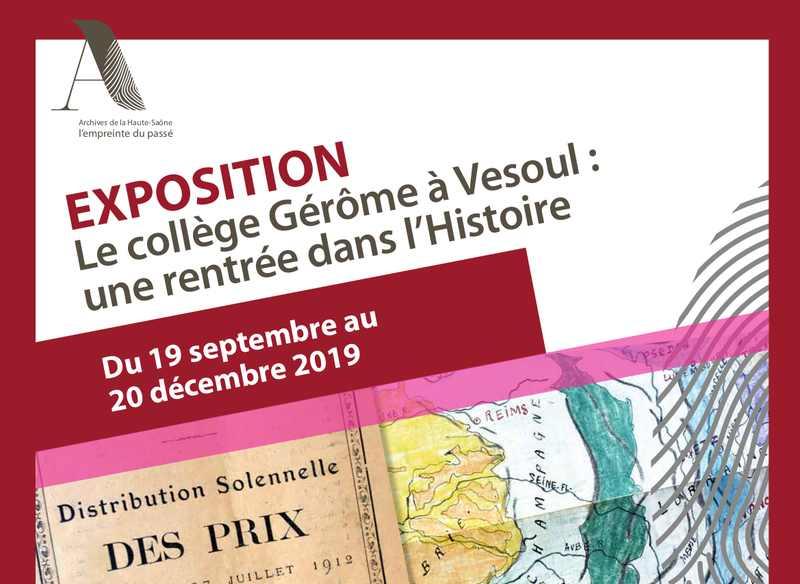 Bandeau Exposition Collège Gérôme