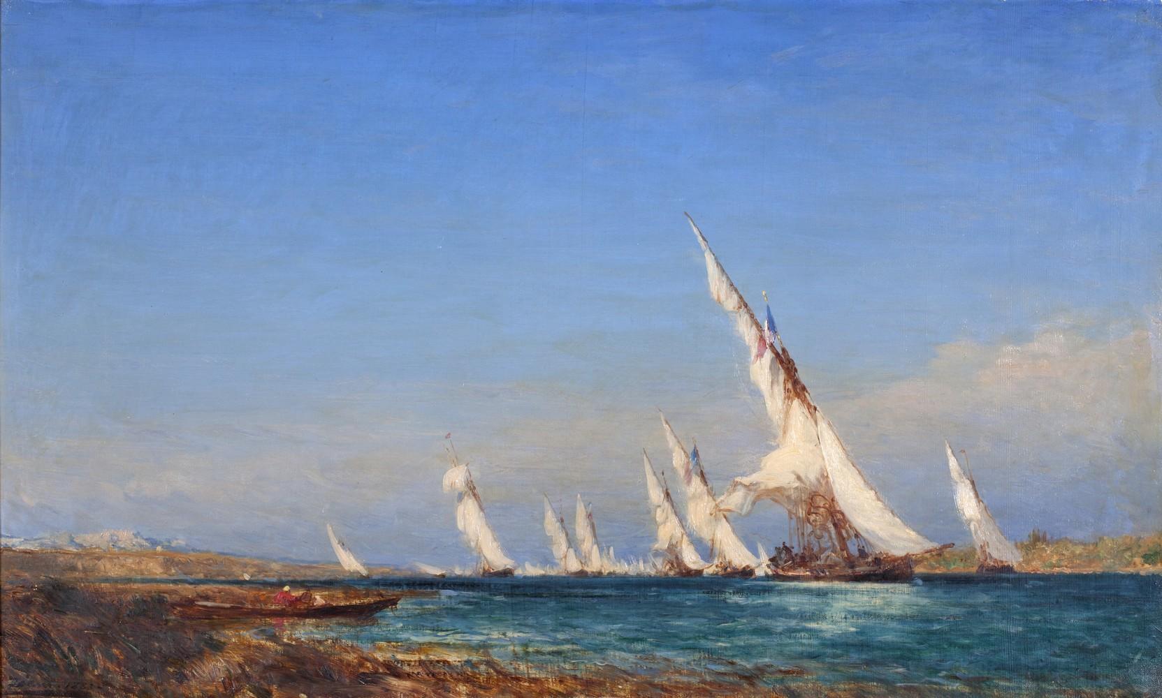 F. Ziem, Lagune dans la Méditerranée - Atelier photo Muzard Beaune
