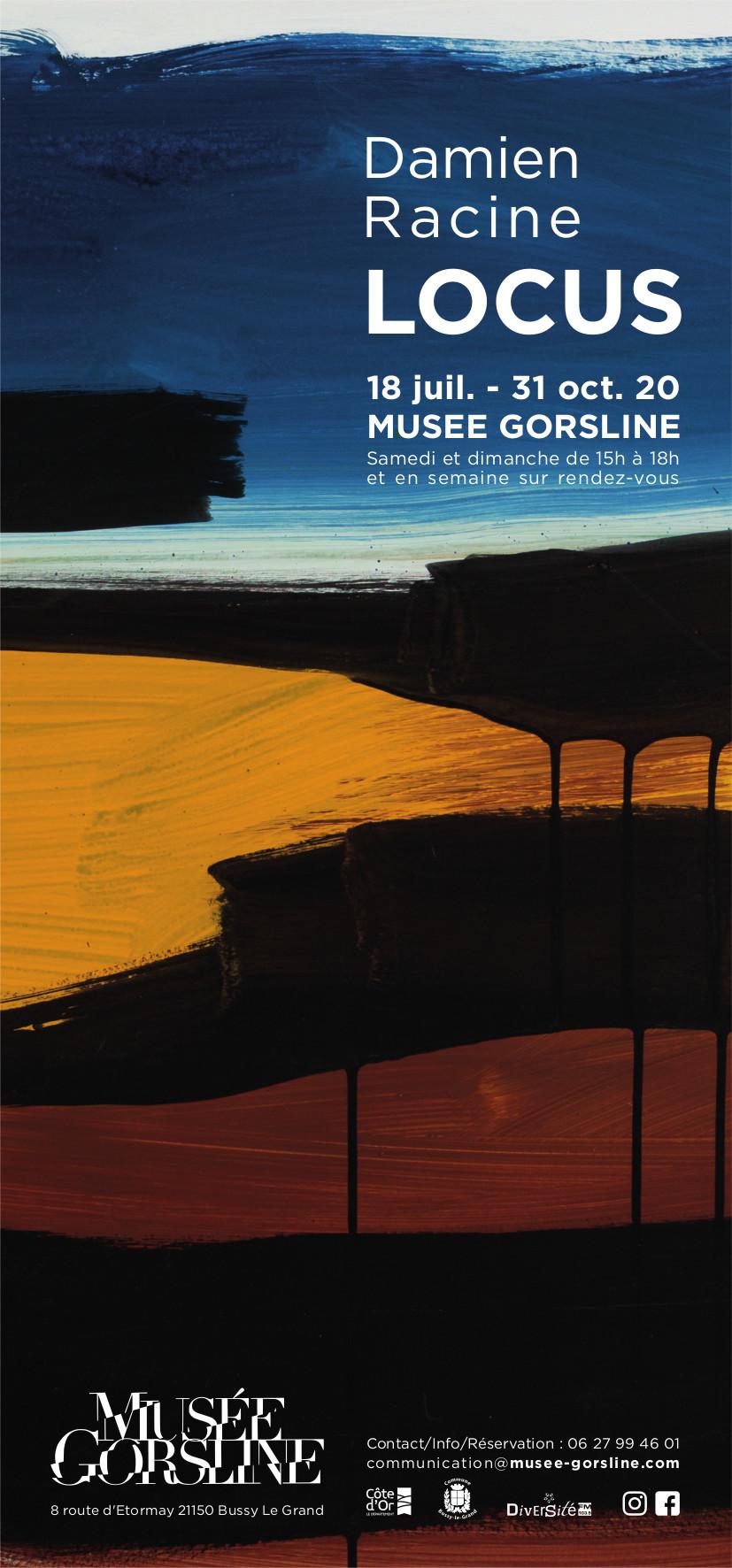 Affiche exposition LOCUS par Damien Racine - Franck Dujoux pour Musée Gorsline