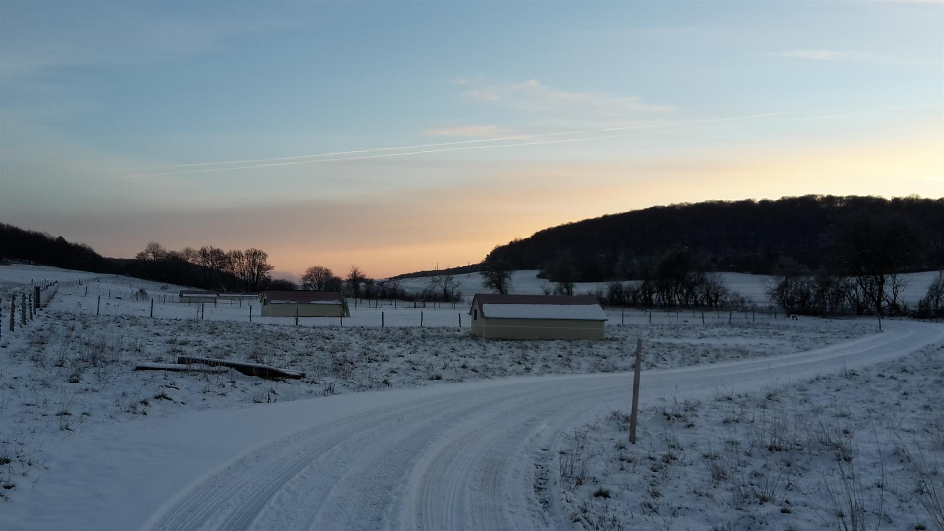 En hiver! - DPR-FERME DU POISET