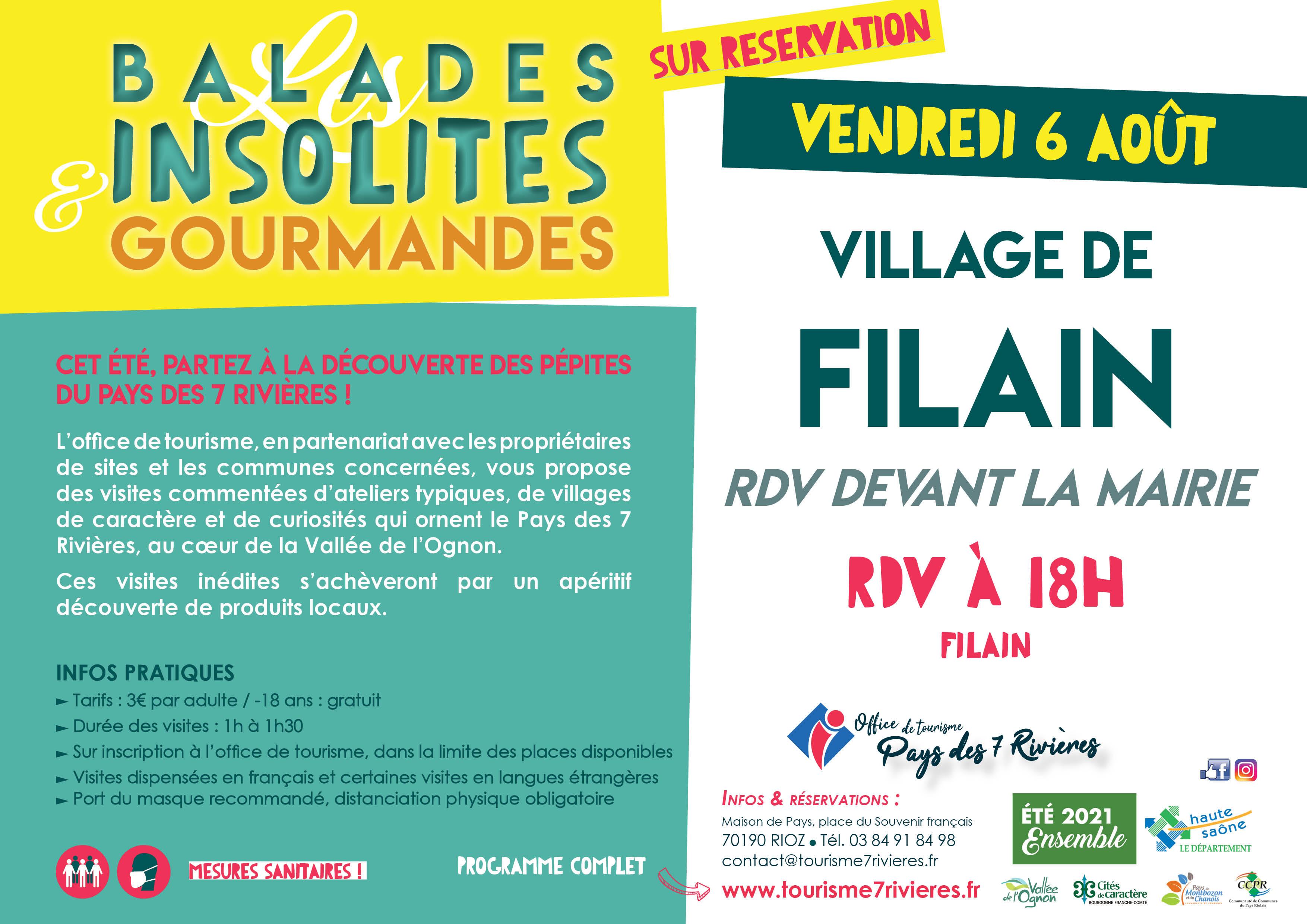Visite guidée du village de Filain