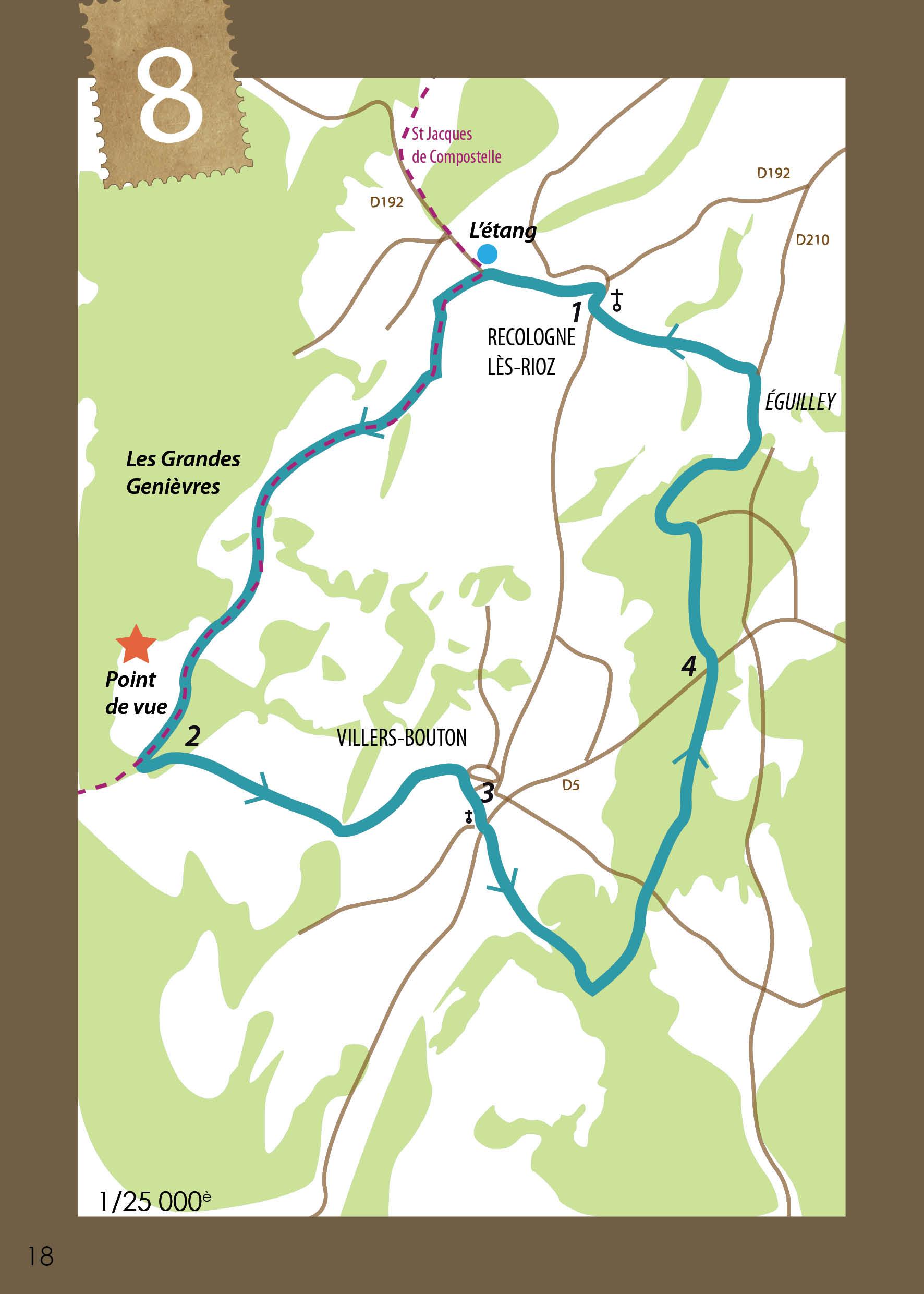 Circuit panoramique sur la vallée de la Saône