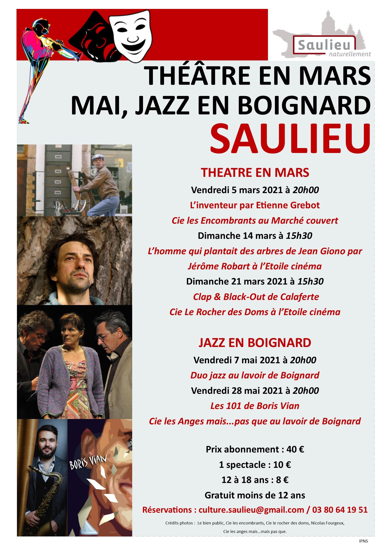 affiche mars theatre et mai en jazz - © Ville de Saulieu