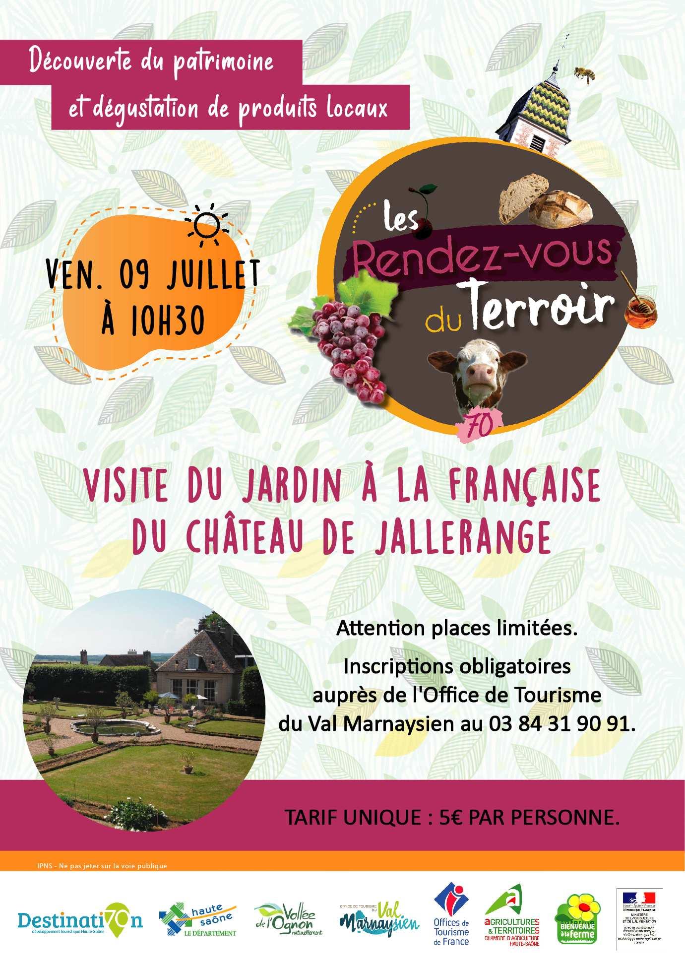 Visite du Jardin à la Française du Château de Jallerange